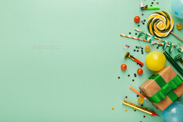 Children birthday party background - Stock Photo - Images
