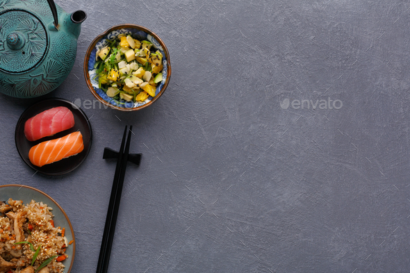 Japanese style food, restaurant serving - Stock Photo - Images