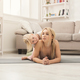 Mother and little daughter doing yoga together - PhotoDune Item for Sale