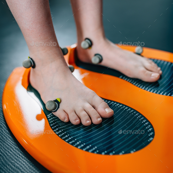 Thermo foot scan - Stock Photo - Images