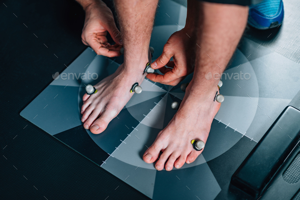 2d and 3d posture analysis of foot - Stock Photo - Images