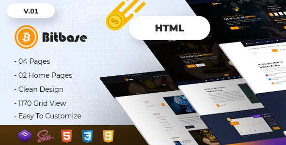 Image of Bitbase - Bitcoin and Cryptocurrency HTML Template