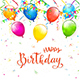 Birthday Background with Pennants and Balloons - GraphicRiver Item for Sale