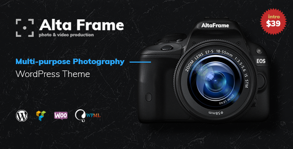 Altaframe - Photo School, Aerial Photography and Photographer Portfolio Multipurpose WordPress Theme - Photography Creative