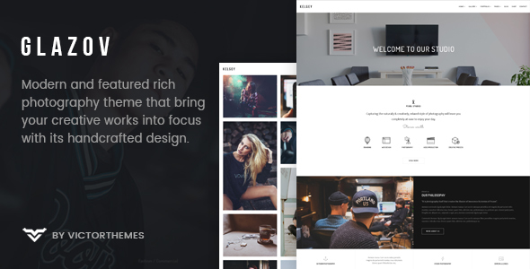 Glazov - Photography WordPress Theme