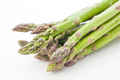 whole raw green asparagus on white background - PhotoDune Item for Sale