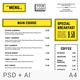 Minimalist Line Clean Cafe Menu Design - GraphicRiver Item for Sale