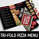 Tri-Fold Pizza Menu