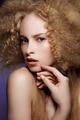 Beauty Portrait. Curly Hair - PhotoDune Item for Sale