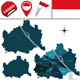 Map of Vienna, Austria with Named Districts - GraphicRiver Item for Sale