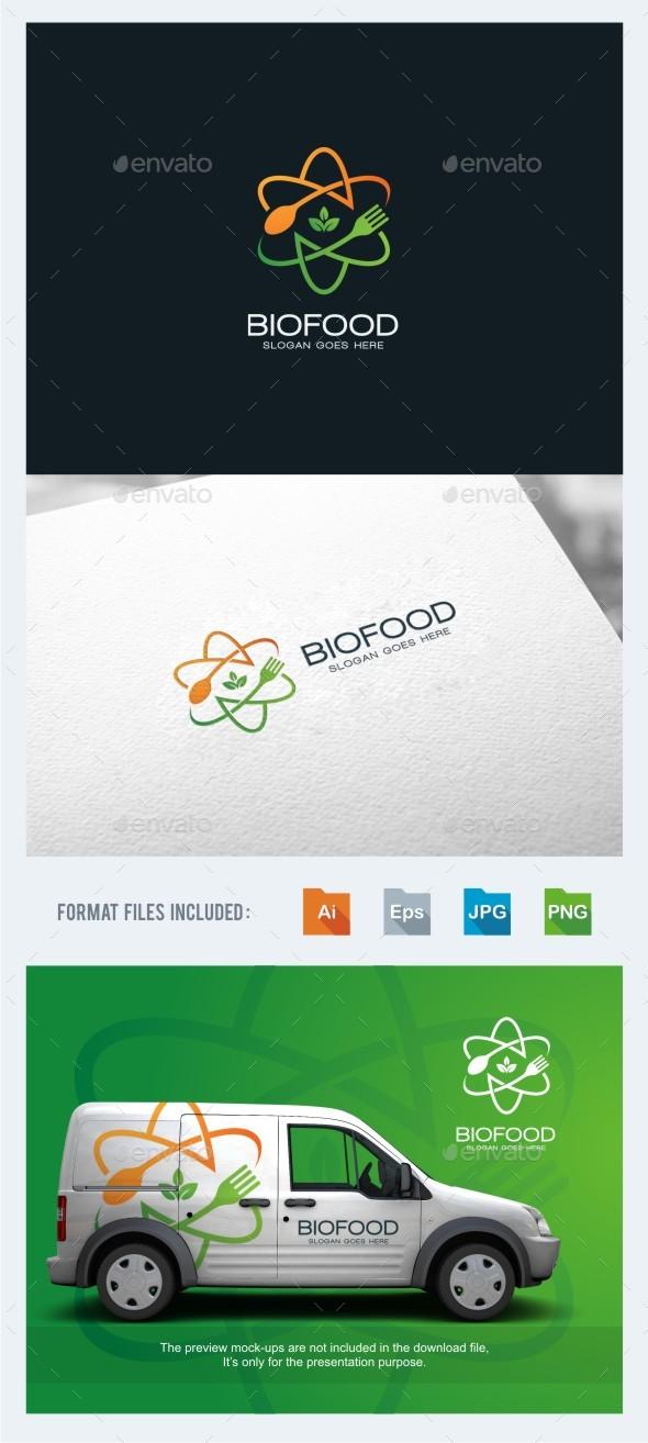 Bio Food Logo Template - Food Logo Templates