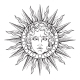 Sun with Face of God Apollo or Helios - GraphicRiver Item for Sale