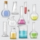 Test-tube Vector Chemical Glass Test Tubes Filled - GraphicRiver Item for Sale