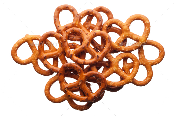 Salted pretzels - Stock Photo - Images