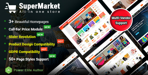 SuperMarket - Multi-purpose Responsive OpenCart 3 Theme (3+ Mobile Layouts Ready) - OpenCart eCommerce