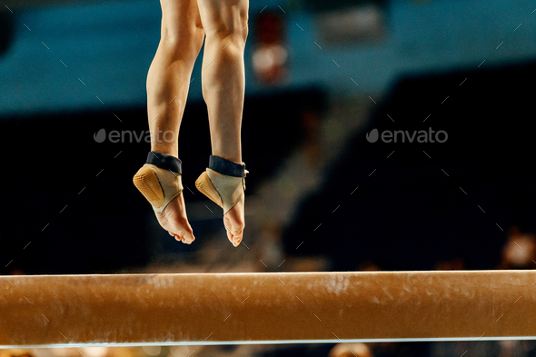 legs woman gymnast - Stock Photo - Images