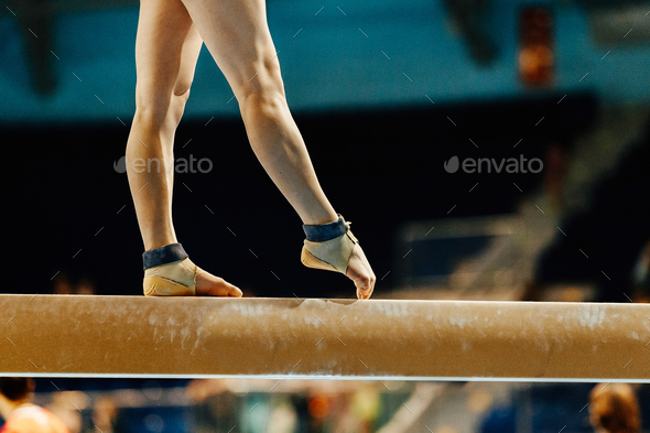 artistic gymnastics legs women gymnast - Stock Photo - Images