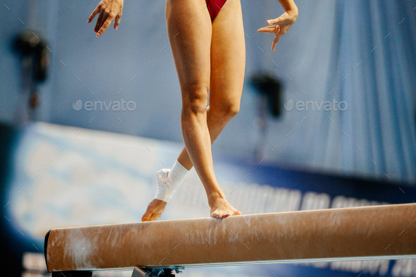 legs women gymnast - Stock Photo - Images