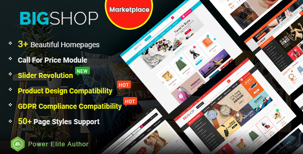 BigShop - High Customizable Responsive OpenCart 3 Marketplace Theme - OpenCart eCommerce