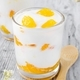 A fresh orange yogurt dessert in a glass - PhotoDune Item for Sale
