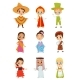 Flat Vector Set of Little Kids - GraphicRiver Item for Sale