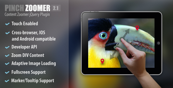 Pinch Zoomer jQuery Plugin - CodeCanyon Item for Sale