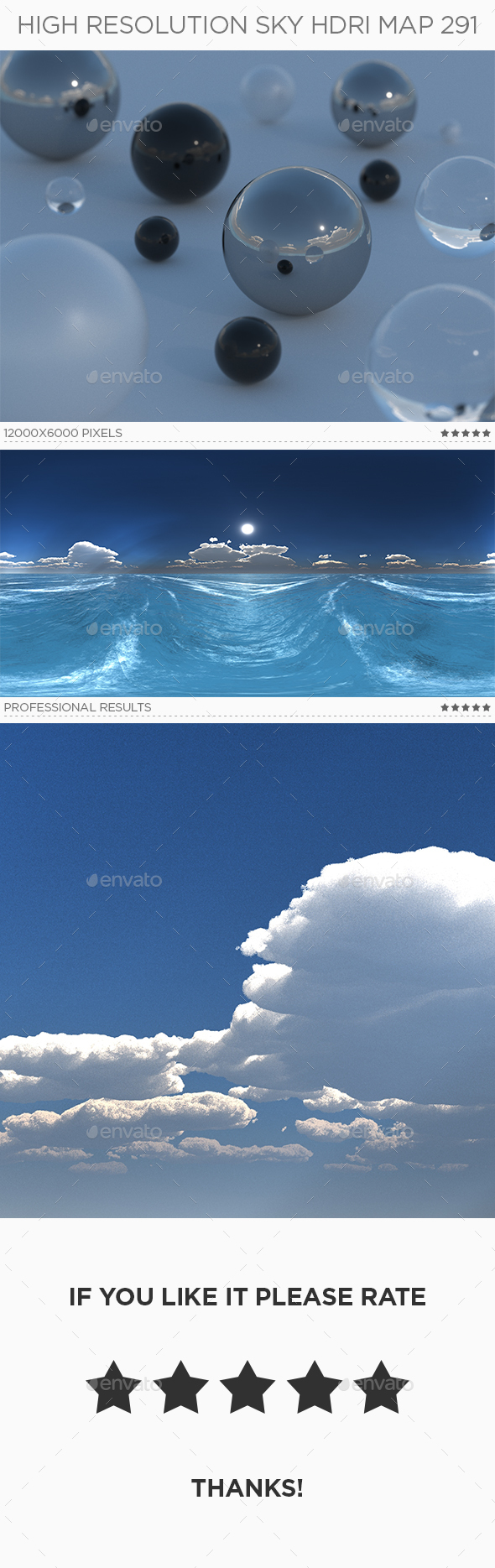 High Resolution Sky HDRi Map 291 - 3DOcean Item for Sale