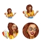 Vector Avatar of Disco Woman for Chat - GraphicRiver Item for Sale