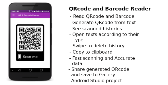Barcode and QRcode Reader - Create easy QRcode - CodeCanyon Item for Sale