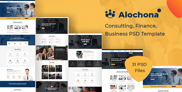 Alochona – Consulting, Finance, Business PSD Template