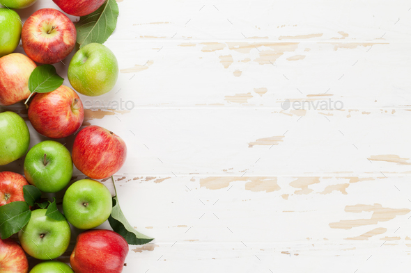 Green and red apples - Stock Photo - Images