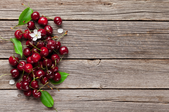 Fresh garden cherry - Stock Photo - Images