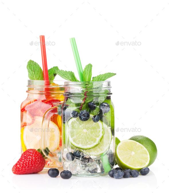 Fresh lemonade jar - Stock Photo - Images