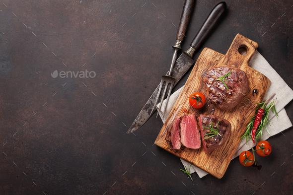 Grilled fillet steak - Stock Photo - Images