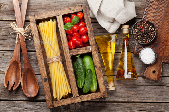 Pasta and ingredients - Stock Photo - Images