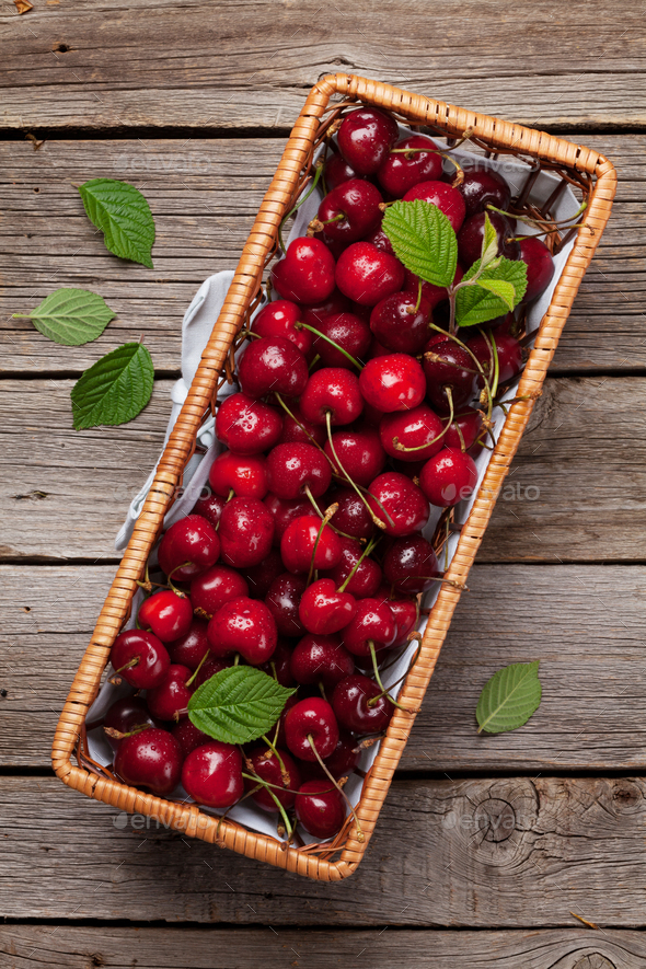 Fresh summer cherry - Stock Photo - Images