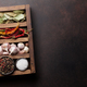 Dry spices in wooden box - PhotoDune Item for Sale