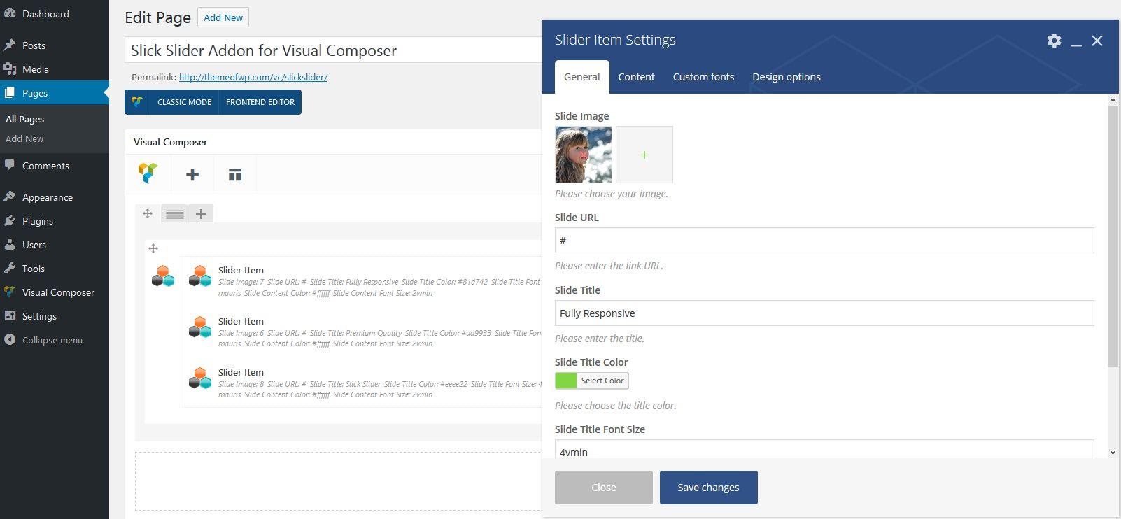 Slick Slider Addon for WPBakery Page Builder (formerly Visual Composer)