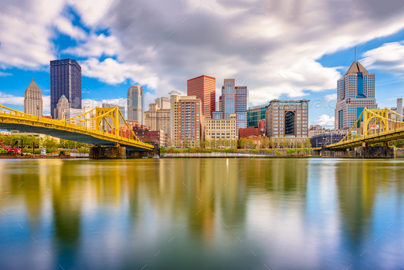 Pittsburgh, Pennsylvania, USA Skyline - Stock Photo - Images