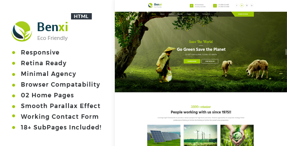 Image of Benxi - Environment / Non-Profit HTML Template