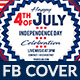 4th of July Facebook Cover - 2 Design- Image Included - GraphicRiver Item for Sale