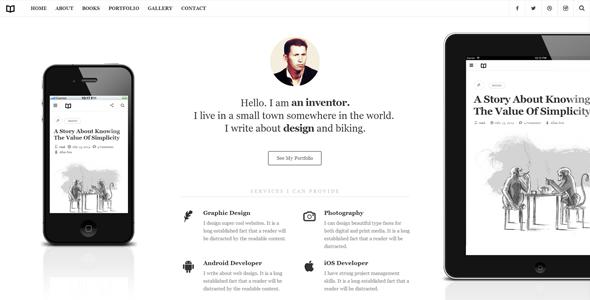 Readme - A Readable WordPress Theme