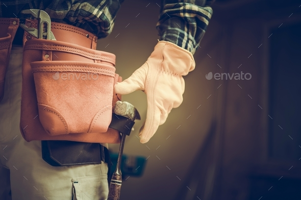 Construction Contractor Belt - Stock Photo - Images