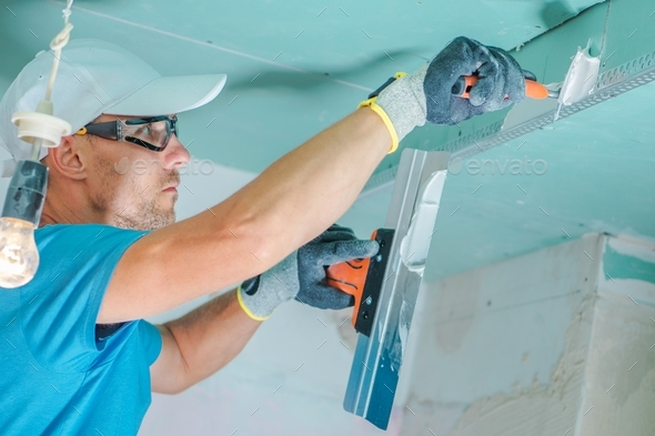 Caucasian Remodeling Contractor - Stock Photo - Images