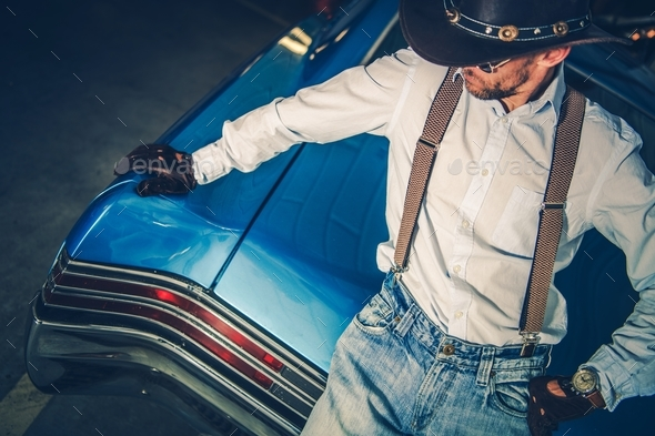 Young Cowboy Driver - Stock Photo - Images