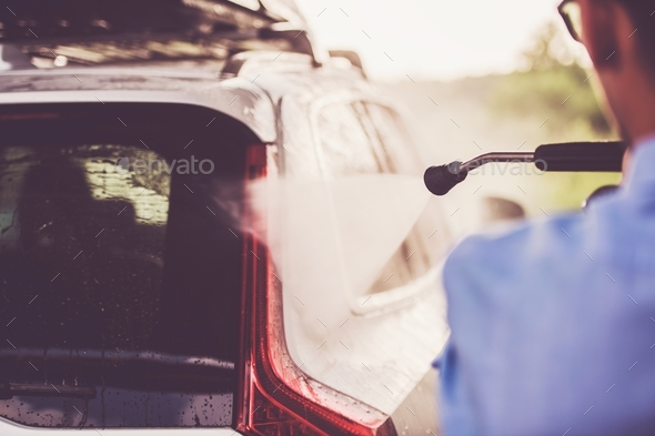 Men in the Car Wash - Stock Photo - Images