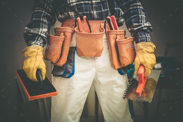 Construction Contractor on Duty - Stock Photo - Images