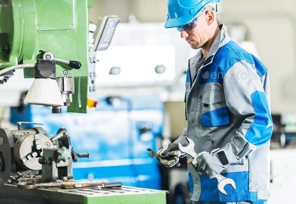 Metalworking Machine Mechanic - Stock Photo - Images