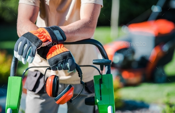 Landscaping Contractor Work - Stock Photo - Images