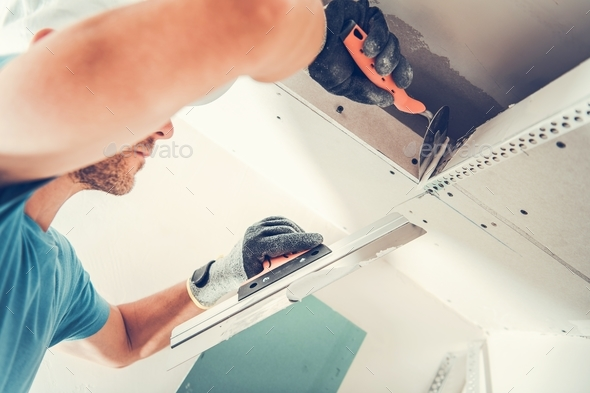 Drywall Finishing Patches - Stock Photo - Images